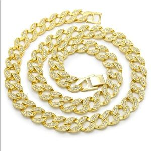 Jewelry - Fully Bling ICY Miami Cuban Link CZ Choker 16""